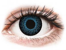 Blaue Kontaktlinsen ohne Stärke - ColourVUE Eyelush Blue - ohne Stärke (2Linsen)
