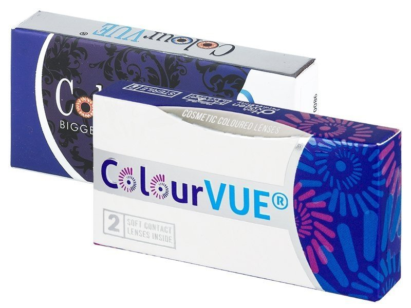 ColourVUE BigEyes Dolly Black - mit Stärke (2 Linsen)