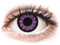 Lilafarbene Kontaktlinsen ohne Stärke - ColourVUE BigEyes Ultra Violet - ohne Stärke (2Linsen)