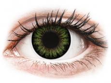 Grüne Kontaktlinsen ohne Stärke - ColourVUE BigEyes Party Green - ohne Stärke (2Linsen)