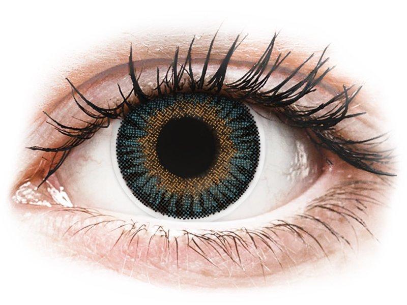 ColourVUE 3 Tones Blue - mit Stärke (2Linsen) - Coloured contact lenses