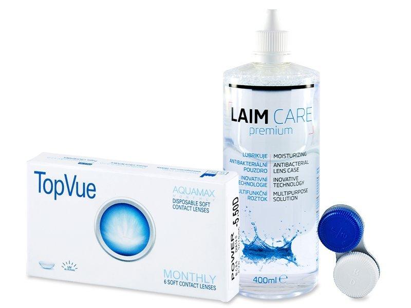 TopVue Monthly (6Linsen) +Laim Care 400ml - Spar-Set