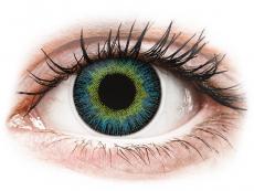 Gelbe Kontaktlinsen ohne Stärke - ColourVUE Fusion Yellow Blue - ohne Stärke (2Linsen)