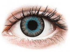 Blaue Kontaktlinsen ohne Stärke - ColourVUE Fusion Blue Gray - ohne Stärke (2Linsen)
