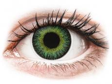 Grüne Kontaktlinsen ohne Stärke - ColourVUE Fusion Green Yellow - ohne Stärke (2Linsen)