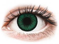 Grüne Kontaktlinsen ohne Stärke - SofLens Natural Colors Amazon - ohne Stärke (2 Linsen)