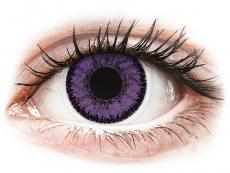 Lilafarbene Kontaktlinsen ohne Stärke - SofLens Natural Colors Indigo - ohne Stärke (2 Linsen)