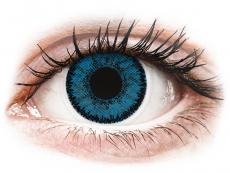 Blaue Kontaktlinsen ohne Stärke - SofLens Natural Colors Topaz - ohne Stärke (2 Linsen)