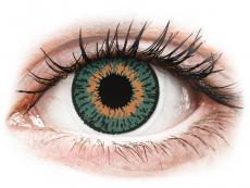 Blaue Kontaktlinsen ohne Stärke - Expressions Colors Aqua - ohne Stärke (1 Linse)
