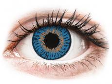 Blaue Kontaktlinsen ohne Stärke - Expressions Colors Dark Blue - ohne Stärke (1 Linse)