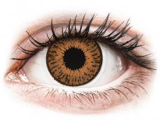 Braune Kontaktlinsen mit Stärke - Expressions Colors Hazel - mit Stärke (1 Linse)