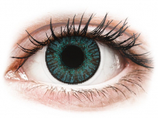 Blaue Kontaktlinsen ohne Stärke - FreshLook ColorBlends Brilliant Blue - ohne Stärke (2 Linsen)