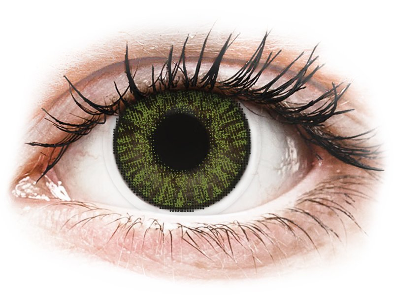 FreshLook ColorBlends Green - mit Stärke (2 Linsen)