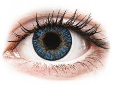 Blaue Kontaktlinsen ohne Stärke - FreshLook ColorBlends True Sapphire - ohne Stärke (2 Linsen)
