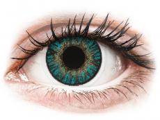 Blaue Kontaktlinsen ohne Stärke - FreshLook ColorBlends Turquoise - ohne Stärke (2 Linsen)
