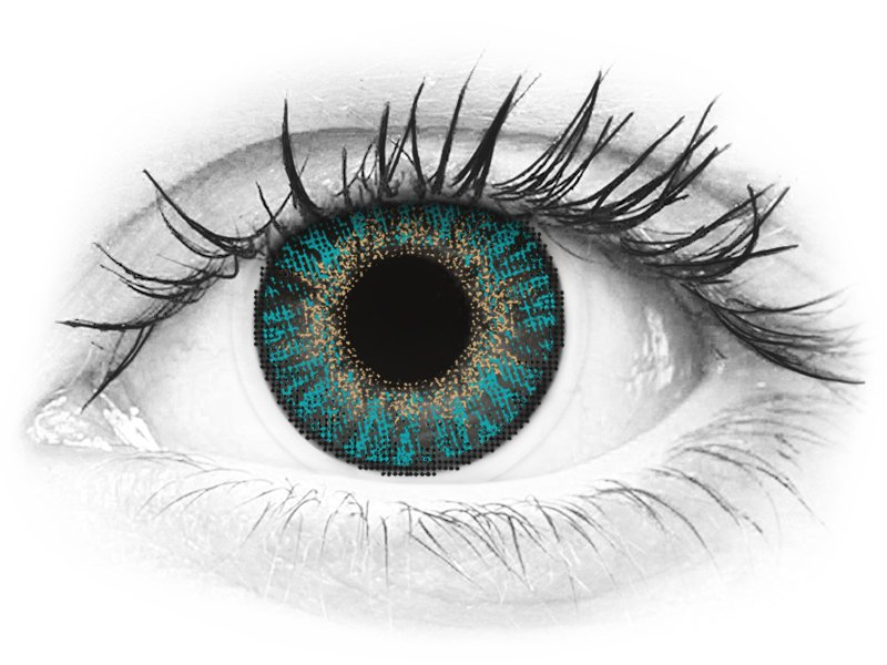 FreshLook ColorBlends Turquoise - ohne Stärke (2 Linsen)