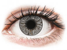 Graue Kontaktlinsen ohne Stärke - FreshLook Colors Misty Gray - ohne Stärke (2 Linsen)