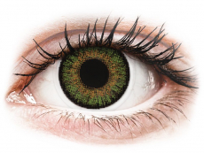 Kontaktlinsen - FreshLook One Day Color Green - mit Stärke (10 Linsen)