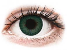 Grüne Kontaktlinsen mit Stärke - FreshLook Dimensions Carribean Aqua - mit Stärke (6 Linsen)