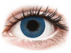 Blaue Kontaktlinsen ohne Stärke - FreshLook Dimensions Pacific Blue - ohne Stärke (2 Linsen)