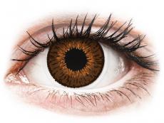 Braune Kontaktlinsen mit Stärke - Expressions Colors Brown - mit Stärke (1 Linse)