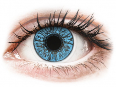 Blaue Kontaktlinsen ohne Stärke - FreshLook Colors Sapphire Blue - ohne Stärke (2 Linsen)