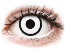 Spezielle Farblinsen ohne Stärke - ColourVUE Crazy Lens - White Zombie - Tageslinsen ohne Stärke (2 Linsen)