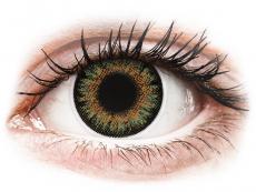 Braune Kontaktlinsen mit Stärke - ColourVue One Day TruBlends Green - mit Stärke (10 Linsen)