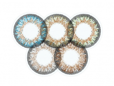 Blaue Kontaktlinsen ohne Stärke - ColourVue One Day TruBlends Rainbow 1 - ohne Stärke (10 Linsen)