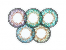 Gelbe Kontaktlinsen ohne Stärke - ColourVue One Day TruBlends Rainbow 2 - ohne Stärke (10 Linsen)