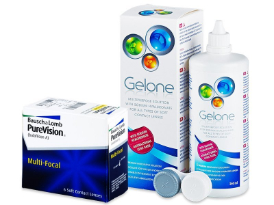 PureVision Multi-Focal (6 Linsen) + Gelone 360 ml