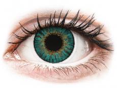 Grüne Kontaktlinsen ohne Stärke - Air Optix Colors - Turquoise - ohne Stärken (2 Linsen)