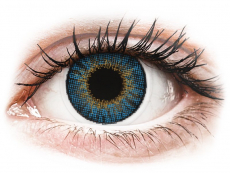 Blaue Kontaktlinsen ohne Stärke - Air Optix Colors - True Sapphire - ohne Stärken (2 Linsen)