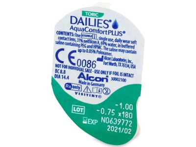 Blister Vorschau - Dailies AquaComfort Plus Toric (30Linsen)