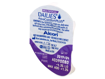 Dailies AquaComfort Plus Multifocal (30 Linsen) - Blister Vorschau