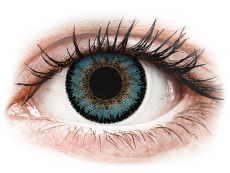 Blaue Kontaktlinsen ohne Stärke - ColourVUE 3 Tones Aqua - ohne Stärke (2Linsen)