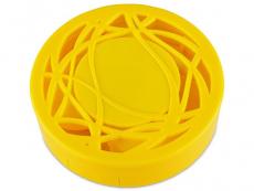 Behälter und Reise-Kits - Kontaktlinsen-Etui - Ornament gelb
