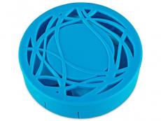 Behälter und Reise-Kits - Kontaktlinsen-Etui - Ornament blau