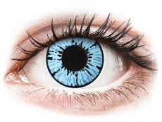 Blaue Kontaktlinsen ohne Stärke - ColourVUE Crazy Lens - Blizzard - ohne Stärke (2 Linsen)