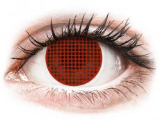 Spezielle Farblinsen ohne Stärke - ColourVUE Crazy Lens - Red Screen - ohne Stärke (2Linsen)