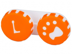Zubehör - Behälter Pfote orange
