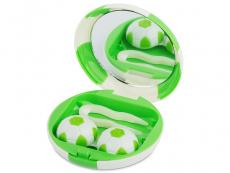 Behälter und Reise-Kits - Kontaktlinsen-Etui Fußball - grün