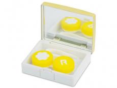 Behälter und Reise-Kits - Kontaktlinsen-Etui Elegant  - golden