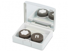 Behälter und Reise-Kits - Kontaktlinsen-Etui Elegant  - silbern