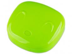 Zubehör - Kontaktlinsen-Etui Gesicht - grün