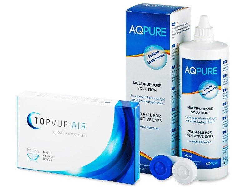 TopVue Air (6 Linsen) + AQ Pure 360 ml - Spar-Set