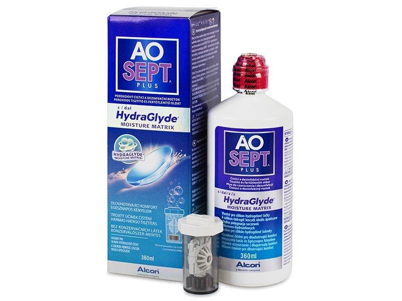 AO SEPT PLUS HydraGlyde 360ml  - Reinigungslösung  - Alcon