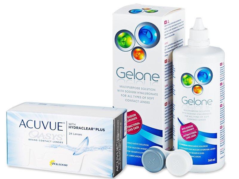 Acuvue Oasys (24 Linsen) +Gelone 360ml - Spar-Set