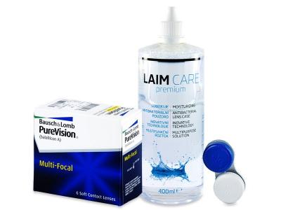 PureVision Multi-Focal (6 Linsen) +Laim Care 400ml