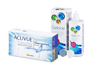 Acuvue Oasys for Astigmatism (12 Linsen) + Gelone 360 ml